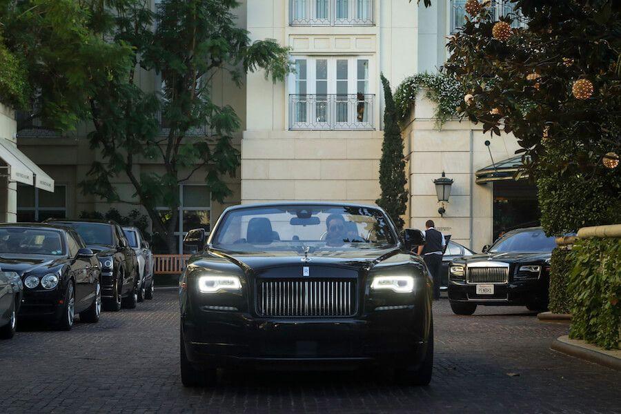 blacked our Rolls Royce Dawn Rental 4-60656